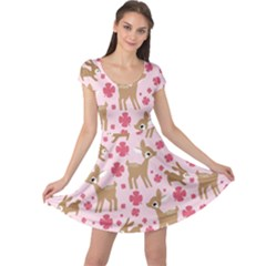 Preety Deer Cute Cap Sleeve Dresses
