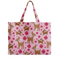Preety Deer Cute Zipper Mini Tote Bag