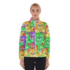 Cute Cartoon Crowd Of Colourful Kids Bears Winterwear