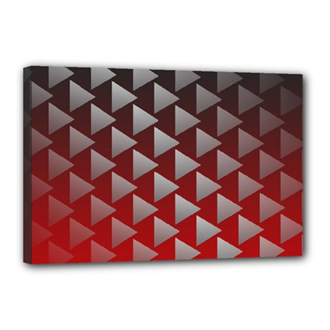 Netflix Play Button Pattern Canvas 18  X 12