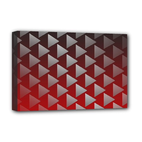 Netflix Play Button Pattern Deluxe Canvas 18  x 12