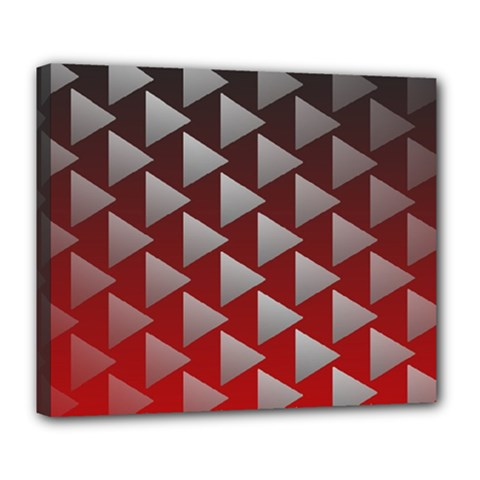 Netflix Play Button Pattern Deluxe Canvas 24  X 20