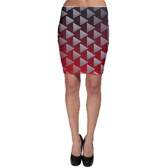 Netflix Play Button Pattern Bodycon Skirt