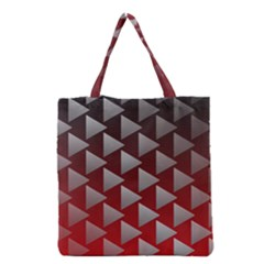Netflix Play Button Pattern Grocery Tote Bag