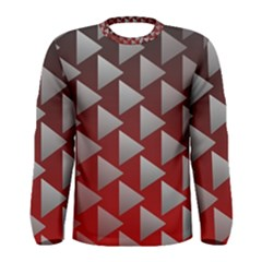 Netflix Play Button Pattern Men s Long Sleeve Tee