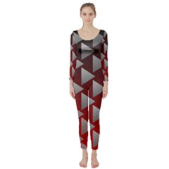 Netflix Play Button Pattern Long Sleeve Catsuit