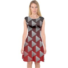 Netflix Play Button Pattern Capsleeve Midi Dress