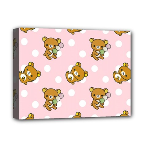 Kawaii Bear Pattern Deluxe Canvas 16  X 12