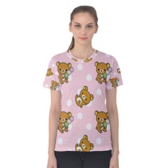 Kawaii Bear Pattern Women s Cotton Tee
