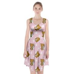Kawaii Bear Pattern Racerback Midi Dress