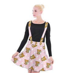 Kawaii Bear Pattern Suspender Skater Skirt