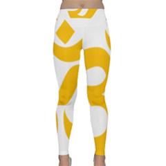 Hindu Om Symbol (Gold) Classic Yoga Leggings