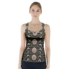 Pearls And Hearts Of Love In Harmony Racer Back Sports Top