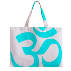 Aum Om Cyan Mini Tote Bag