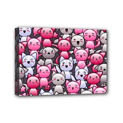 Cute Doodle Wallpaper Cute Kawaii Doodle Cats Mini Canvas 7  x 5
