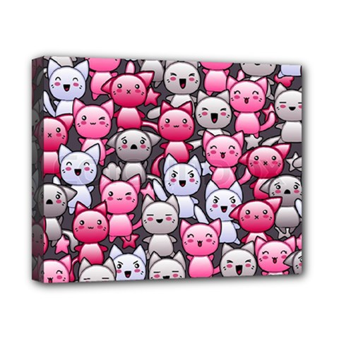 Cute Doodle Wallpaper Cute Kawaii Doodle Cats Canvas 10  X 8