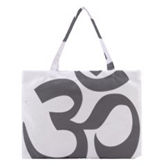 Hindu Om Symbol (dark Gray)  Medium Tote Bag