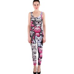 Cute Doodle Wallpaper Cute Kawaii Doodle Cats OnePiece Catsuit