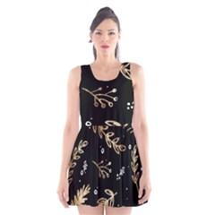 Kawaii Wallpaper Pattern Scoop Neck Skater Dress