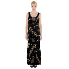 Kawaii Wallpaper Pattern Maxi Thigh Split Dress