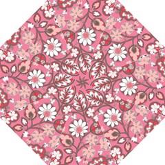 Pink Flower Pattern Straight Umbrellas