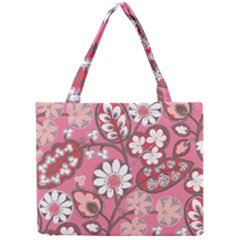 Pink Flower Pattern Mini Tote Bag