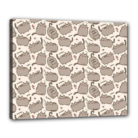 Pusheen Wallpaper Computer Everyday Cute Pusheen Canvas 20  x 16