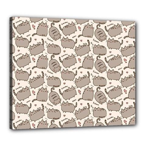 Pusheen Wallpaper Computer Everyday Cute Pusheen Canvas 24  X 20