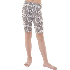 Pusheen Wallpaper Computer Everyday Cute Pusheen Kids  Mid Length Swim Shorts
