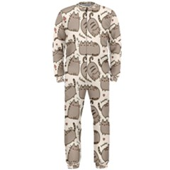 Pusheen Wallpaper Computer Everyday Cute Pusheen OnePiece Jumpsuit (Men)
