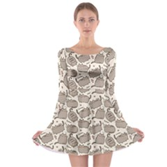 Pusheen Wallpaper Computer Everyday Cute Pusheen Long Sleeve Skater Dress