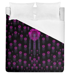 Wonderful Jungle Flowers In The Dark Duvet Cover (queen Size)