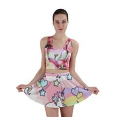 Unicorn Rainbow Mini Skirt
