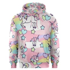 Unicorn Rainbow Men s Pullover Hoodie