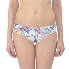 Unicorn Rainbow Hipster Bikini Bottoms