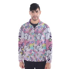 Unicorn Rainbow Wind Breaker (men)
