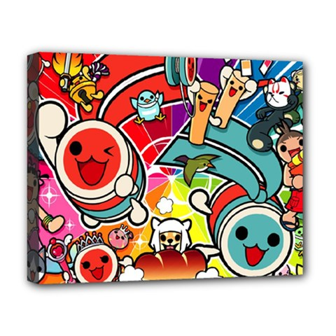 Cute Doodles Wallpaper Background Deluxe Canvas 20  X 16
