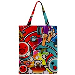 Cute Doodles Wallpaper Background Zipper Classic Tote Bag