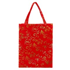 Golden Swrils Pattern Background Classic Tote Bag