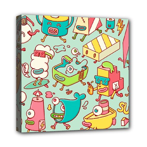 Summer Up Pattern Mini Canvas 8  x 8