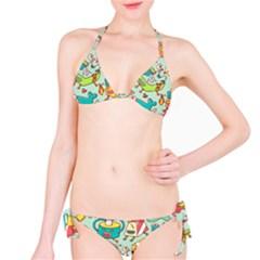 Summer Up Pattern Bikini Set