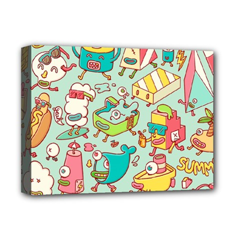 Summer Up Pattern Deluxe Canvas 16  X 12