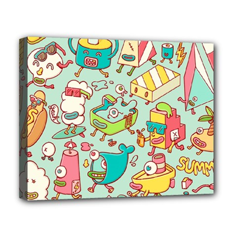 Summer Up Pattern Deluxe Canvas 20  x 16