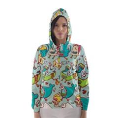 Summer Up Pattern Hooded Wind Breaker (women)