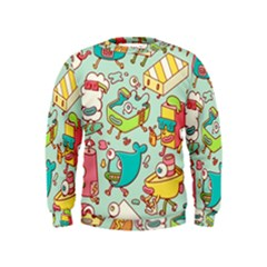 Summer Up Pattern Kids  Sweatshirt