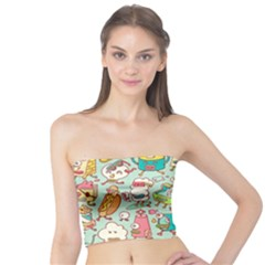 Summer Up Pattern Tube Top