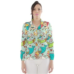 Summer Up Pattern Wind Breaker (women)