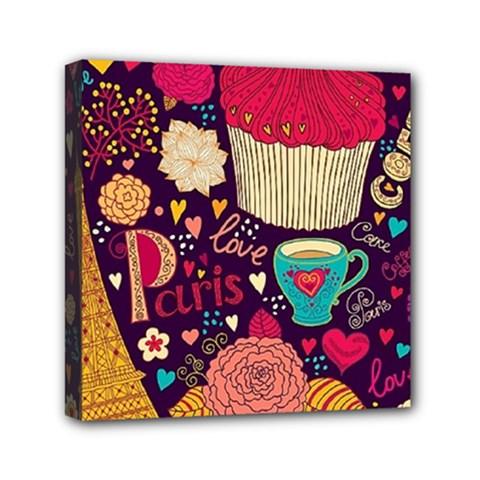 Cute Colorful Doodles Colorful Cute Doodle Paris Mini Canvas 6  x 6