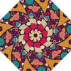 Cute Colorful Doodles Colorful Cute Doodle Paris Hook Handle Umbrellas (Large)