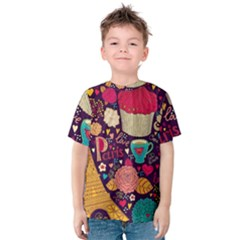 Cute Colorful Doodles Colorful Cute Doodle Paris Kids  Cotton Tee